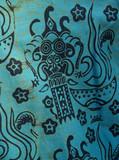 african batik cotton print shirt detail poster