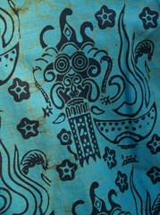 african batik cotton print shirt detail