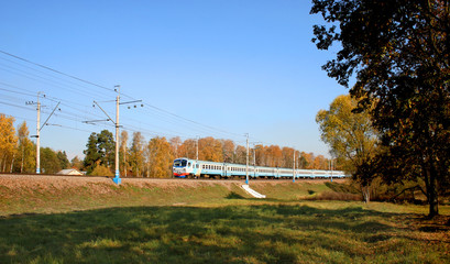 train autumn passenger