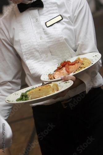 Fototapete Menschen im Restaurant - Hotel - Kellner - Poster - Aufkleber