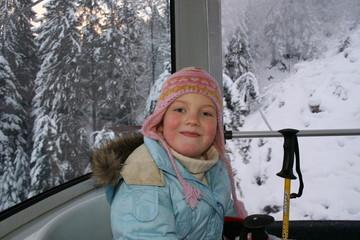 kid in ski cabine