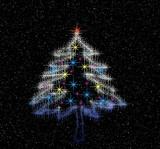 christmas magic tree poster