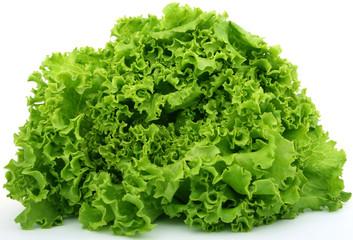 fresh green vegetables, isolated on white
