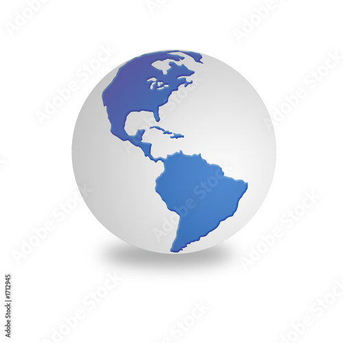 white and blue world globe