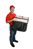 pizza delivery full body isolated poster