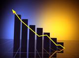 business statistics graph poster