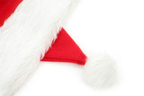 santa furry red  hat poster