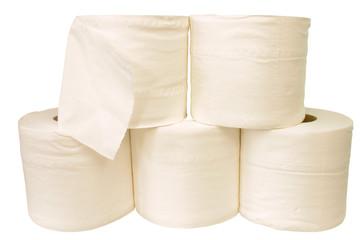 white toilet rolls