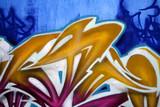 vivid graffiti detail poster