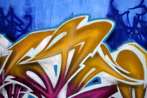 vivid graffiti detail
