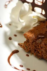close up of chocolate dessert