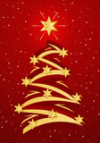 Fototapety stylized christmas tree illustation
