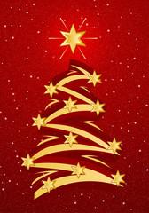 stylized christmas tree illustation