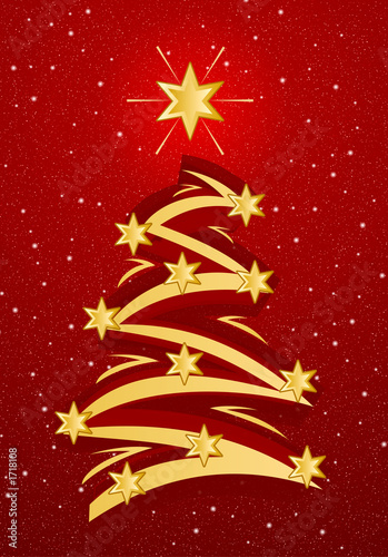 stylized christmas tree illustation