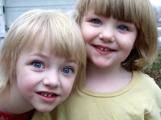 two blond sisters