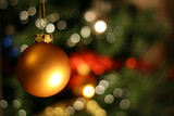 Fototapety christmas golden ball