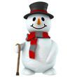 3d snow man