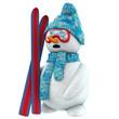 3d snow man ski