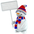 3d snow man sign