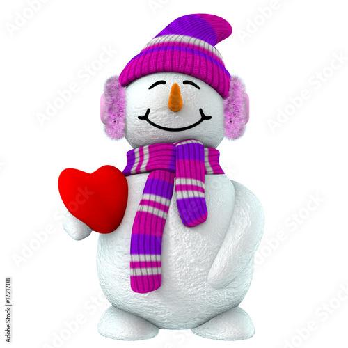 3d snow girl