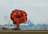large ground explosion poster