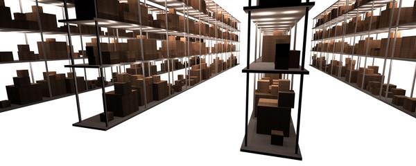 "multiple storeroom shelves ""below right"""