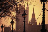 lamps embankment houses of parliament poster