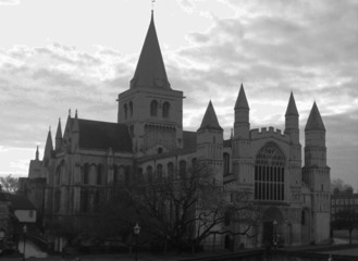 rochester cathedral black and white