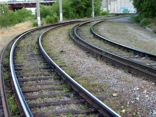 rails of a tram way