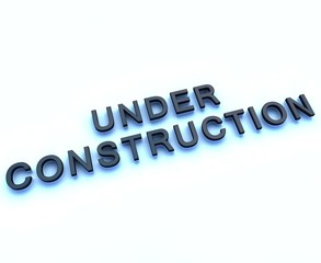 under constuction 3d sign