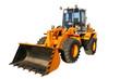Leinwandbild Motiv the heavy building bulldozer of yellow color