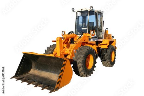 Leinwanddruck Bild the heavy building bulldozer of yellow color
