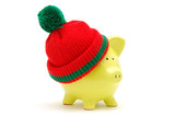 christmas piggy bank poster