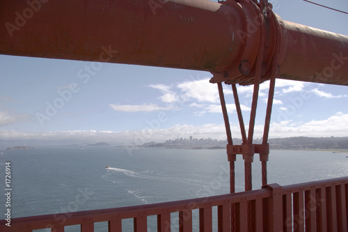 canvas print picture main cable of golden gate bridge