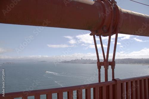 Leinwanddruck Bild main cable of golden gate bridge