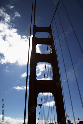 canvas print picture pfeiler der golden gate bridge im gegenlicht