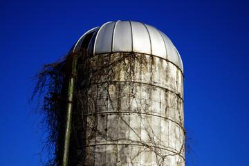 abandoned farm silo