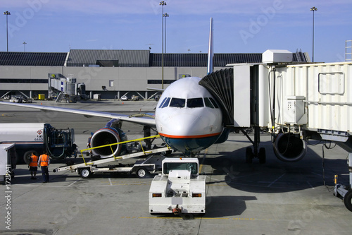 airplane and jetway