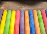 Colored chalks poster