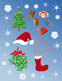 christmas objects poster