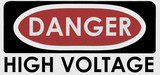danger, high voltage poster