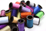 colorful thread spools poster