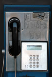 vandal damaged public phone - booth poster