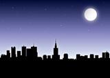 Fototapety warschau bei nacht