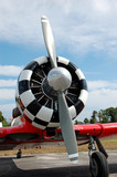 propeller and nose of vintage airplane poster