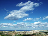 landscape scenery with clouds poster