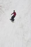 summer snowboarding on mt hood poster