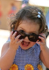 little girl with sunglasses