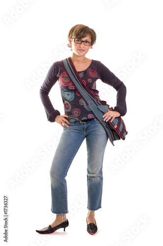 yuppie girl standing 1