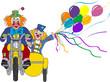 clowns on motor bike